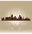 Miami Florida skyline city silhouette vector image vector image