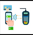Mobile money transferring concept in flat design