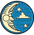 Moon night logo vector image vector image