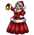 mrs santa claus wall sticker vector image