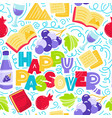 passover seamless pattern vector image vector image
