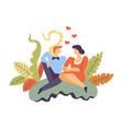 people in love man and woman sitting together vector image