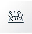 pincushion icon line symbol premium quality vector image