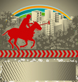 polo grunge background vector image vector image
