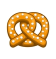 Pretzel Icon on the White Background vector image vector image