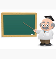 professor blackboard vector image