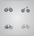 realistic bmx for girl equilibrium and other vector image