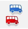 realistic design element bus vector image vector image