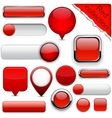Red high-detailed modern buttons vector | Price: 1 Credit (USD $1)