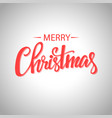 red merry christmas typography on silver bokeh vector image