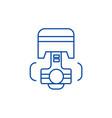 repair car engine piston line icon concept vector image vector image