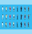 representatives professions professional women job vector image vector image