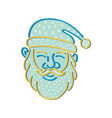 santa claus head memphis style vector image