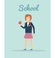 School in Flat Style Design vector image
