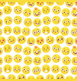 seamless pattern with cheerful happy smile emojji vector image vector image