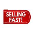 selling fast banner design vector image