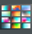 set gradient textures design for background vector image vector image