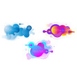 set liquid vivid color abstract geometric vector image vector image