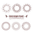 set of hand drawn badges borders and frames vector image vector image
