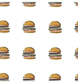 Simless burger pattern vector image vector image
