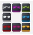 square button sunglasses vector image