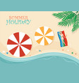 summer holiday design vector image