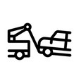 towing broken car icon outline vector image vector image