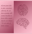 two section poster about human brain vector image