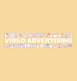 video advertising word concepts banner vector image vector image
