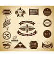 Vintage labels Collection 9 vector image vector image