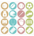 white icons team sport vector image vector image