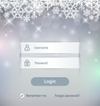 Winter Login vector image vector image