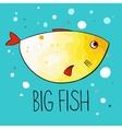 yellow fish vector image vector image