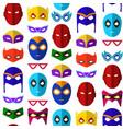 cartoon superhero mask seamless pattern background vector image