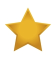 star yellow shape isolated vector image