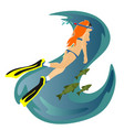 diving snorkelling water extreme sports isolated vector image