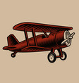 a a vintage airplane vector image vector image