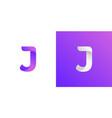 abstract modern letter j logo design using modern vector image vector image