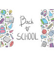 back to school doodle background first day vector image vector image