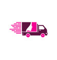 beauty delivery logo icon design vector image vector image