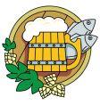 beer hops vector image vector image
