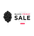 black friday sale bunch black balloons with vector image