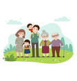 cartoon a happy family vector image vector image