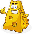 cheese cartoon character thumbs up vector image vector image
