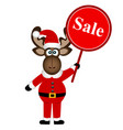 christmas sale christmas elk with banner vector image
