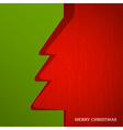 Christmas tree cut out on paper vector image vector image