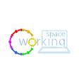 co working logo idea vector image