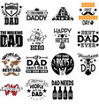 collection fathers day phrases slogans vector image