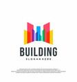 colorful logo design concept building logo vector image vector image