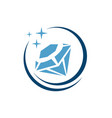custom shiny jewelryof gemstone diamond logo vector image vector image